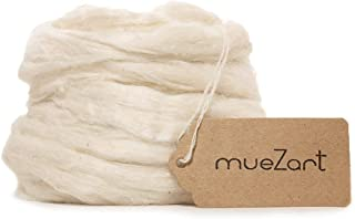 Muezart – Eri Silk Fiber | 17.5 oz | A Natural Color Fiber for Spinning, Blending, Dyeing, Soap Making, Paper Making, Need...