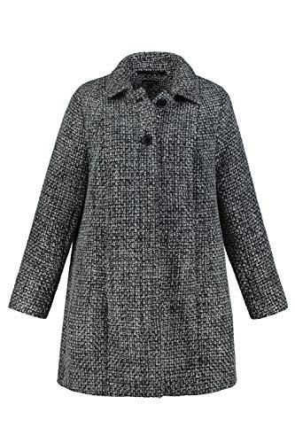 Ulla Popken Damen große Größen Mantel schwarz 54/56 748832 10-54+