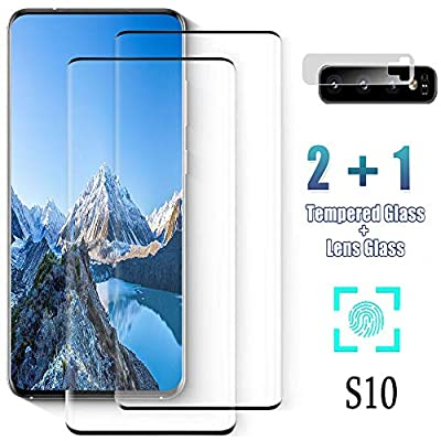 Tempered Glass Screen Protector for Samsung Galaxy S10, [2-Pack][3D Curved] [9H Hardness Anti-Scratch] [Ultrasonic Fingerprint Compatible] for Galaxy S10 Screen Protector