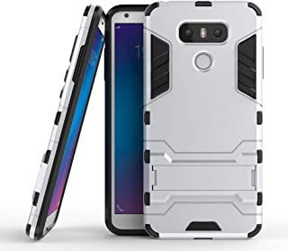 COOVY® Funda para LG G6 de plástico y Silicona TPU, extrafuerte, con protección contra Golpes, Funda con función Atril | Color Lata
