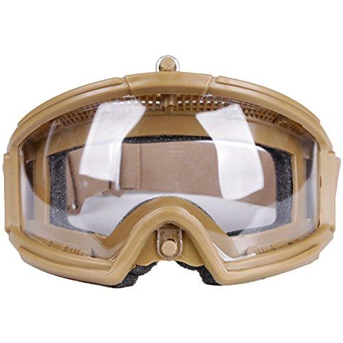 AQzxdc Gafas De Airsoft para Exteriores, Gafas De Seguridad Tácticas, Protección contra Rayos Ultravioleta, Gafas De Resistencia A Los Impactos para Disparos De Paintball, Caza, Ciclismo,Gris