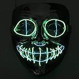Fansport máscaras acción de Gracias led, Mascaras de Navidad para la Navidad Cosplay Grimace Festival Party Show máscaras,Horror Máscara para Halloween Navidad