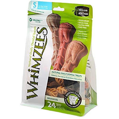 Whimzees Toothbrush Dental Dog Treats Small (24 Count)