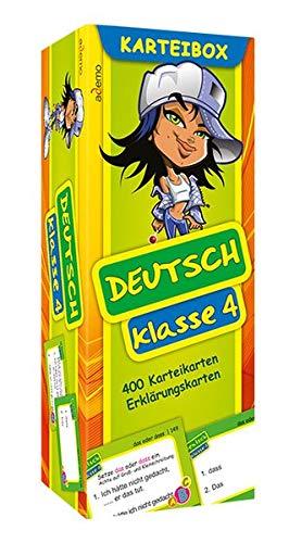 Karteibox Deutsch Klasse 4: mit farbigen Karteikarten