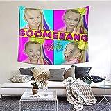 Hdadwy JoJo Siwa Boomerang Tapisserie Art coloré Tapisserie tenture Murale pour la décoration de la Maison Chambre Salon décor 60 X 51 Pouces