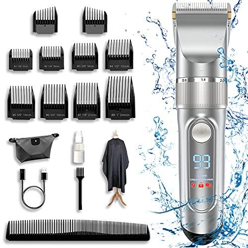 Beard Trimmer Men, Hair Trimmer IPX6 Waterproof Five Speed Adjustment, Body...