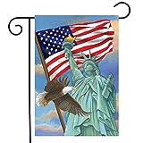 Briarwood Lane Symbols of Freedom Patriotic Garden Flag Statue of Liberty Eagle 12.5' x 18'