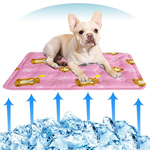 """GANYUE Dog Cooling Mat Pet Cooling Pads, Portable & Washable Pet Bed Mats Dog Crate Mat 20""""x24"""", Summer Cooling Blanket for Dogs Cats – Avoid Overheating, Ideal for Home & Travel Categories"""