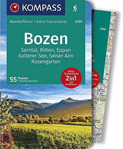 KV WF 5709 Bozen: Wanderführer mit Extra-Tourenkarte 1:45.000, 55 Touren, GPX-Daten zum Download. (KOMPASS-Wanderführer, Band 5709)