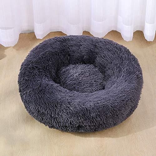 Plüsch Katzenbett Hundebett- Hugger Round Nest Bed Tragbares Katzenhundewelpenbett Sofa Donut-Schlafbett Geeignet für kleine und mittlere Hunde und Katzen (Size : 70cm)
