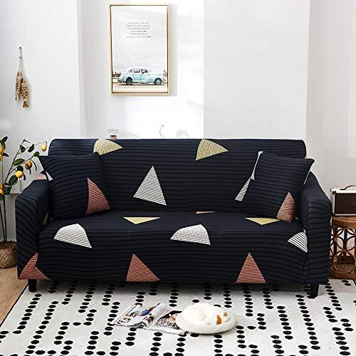 PPMP Funda de sofá elástica con patrón geométrico Fundas de sofá Todo Incluido elásticas para Sala de Estar Fundas de sofá Fundas de sofá A14 2 plazas