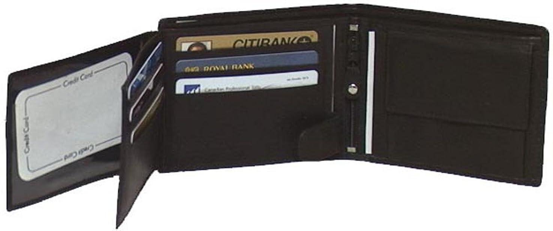 ビリーヤギ船尾騒ぎ本牛革レザーメンズ財布ブラック、ブラウン&タン# 4555?US
