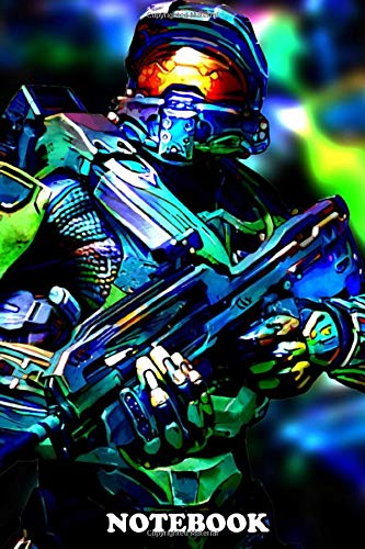 """Notebook: Master Chief , Journal for Writing, College Ruled Size 6"""" x 9"""", 110 Pages"""