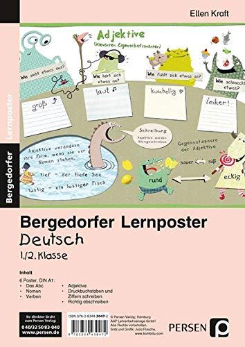 Lernposter Deutsch 1./2.Klasse: 6 Poster für den Klassenraum (Bergedorfer® Lernposter)