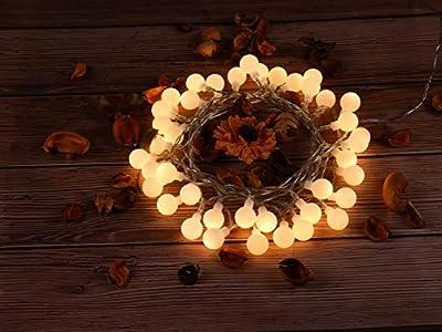 Globe String Light,Dailyart LED Starry Light Fairy Light for Wedding,Xmas Party (White, Battery-powered, 13feet/4meters)