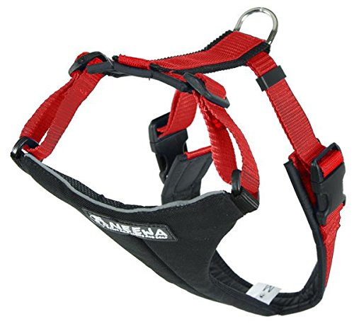 Neewa Dog Running Harness, Dog Hiking Harness (Medium, Red), Reflective Dog Harness, Dog Mushing Harness, Pitbull Harness, Husky Harness