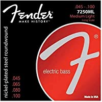 Fender 7250ML ロングスケール Medium Light(45-100) ニッケル フェンダー エレキベース弦【国内正規品】