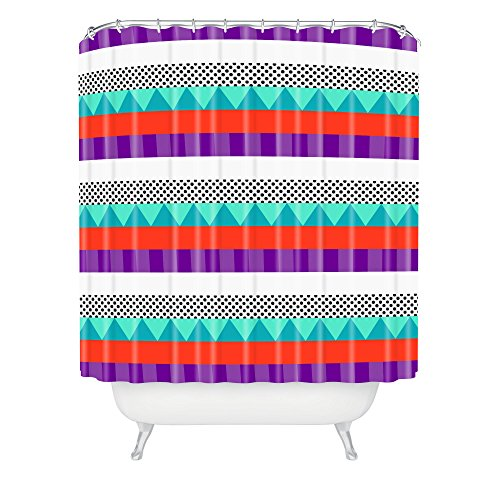 DENY Designs Elisabeth Fredriksson Happy Stripes Duschvorhang, Standardgröße, 71 x 183 cm