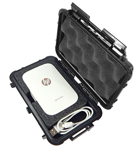 Casematix Carry Case Compatible with Hp Sprocket Portable Photo Printer, Mini Sprocket Printer and Charger in Crushproof, Waterproof Protective Carrying Travel Case