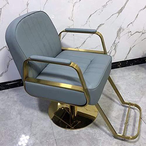 Silla de peluquería de silla de peluquería de estilo clásico, silla de peluquería simple para peluquería, silla de elevación Taburete de peluquería Sede de corte de pelo, respaldo puede estar abajo