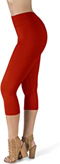 SATINA High Waisted Super Soft Capri Leggings - 20 Colors - Reg & Plus Size