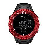 Bestow Reloj Impermeable de los Deportes al Aire Libre de los Hombres del Reloj Luminoso Reloj Despertador Luminoso