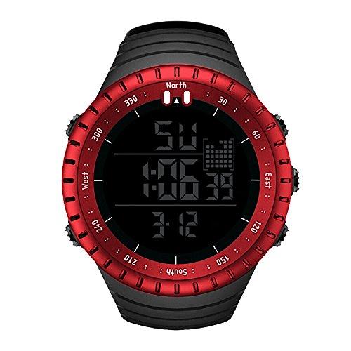 Bestow Reloj Impermeable de los Deportes al Aire Libre de los Hombres del Reloj Luminoso Reloj Despertador Lumin
