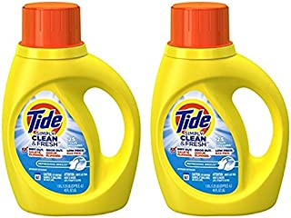 Tide Simply Clean & Fresh Liquid Laundry Detergent, Refreshing Breeze, 40 Ounce (Pack of 2)