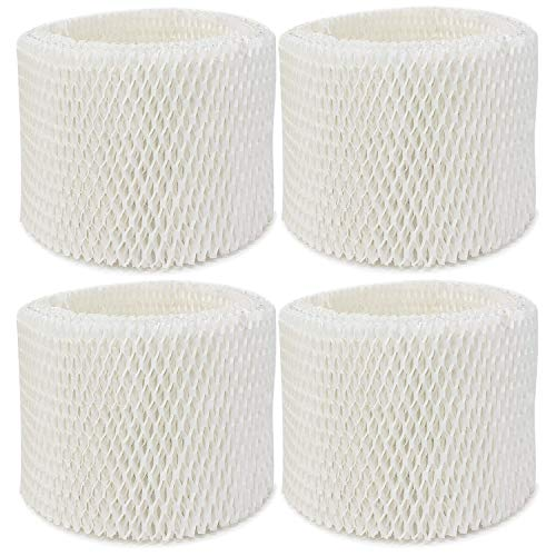 Extolife 4 Pack Replacement Humidifier Filter for Vicks & Kaz WF2 Humidifier V3100, V3500, V3500N, V3600, V3700, V3800, V3850, V3850JUV, V3900, V3900JUV, VEV320, 3020, ECM-250i, ECM-500, WA-8D (4)