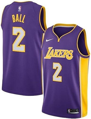Amazon.com: Nike Lonzo Ball Los Angeles Lakers Icon Edition Purple ...