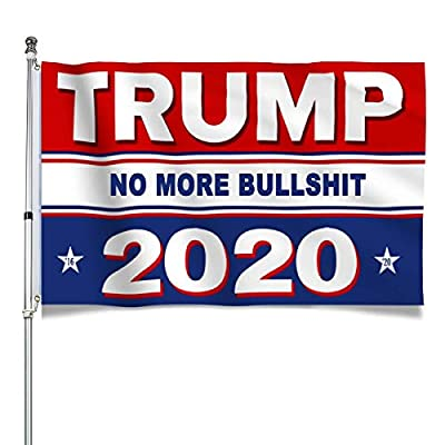 Yougai Trump Flags Outdoor Flag, 2020 American Flag No More Bullshit Donald Trump Flag 3x5 ft with Brass Grommets Outdoor Banners