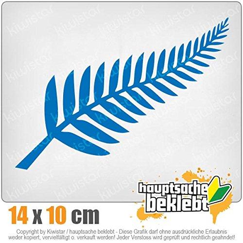 Silver Fern/Neuseeland/Kiwis 14 x 10 cm IN 15 Farben - Neon + Chrom! Sticker Aufkleber