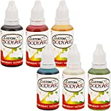 Custom Body Art -6 Color Kit Temporary Tattoo 1 Ounce Airbrush Paint Body Ink Set by Master Airbrush