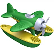 3D Close Up of Green Toys Seaplane in Green Color - BPA Free, Phthalate Free Floatplane for Improving Pincers Grip. Toys and Games