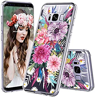 MOSNOVO Galaxy S8 Case, Galaxy S8 Case for Girls, Blossom Floral Flower Pattern Printed Clear Design Transparent Plastic Back Case with TPU Bumper Case Cover for Samsung Galaxy S8