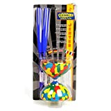 Juggle Dream Jester Diabolo Set with Superglass Hand Sticks - Gift Pack (Blue Sticks)