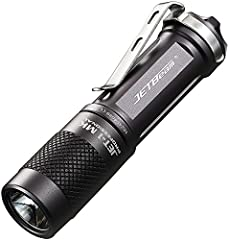Body material: aerospace-grade aluminum alloy Battery quantity: 1 x AA/14500 battery (not included) Lens: Toughened ultra-clear mineral glass lens Beam distance: 100-150m Impact resistance: 1M