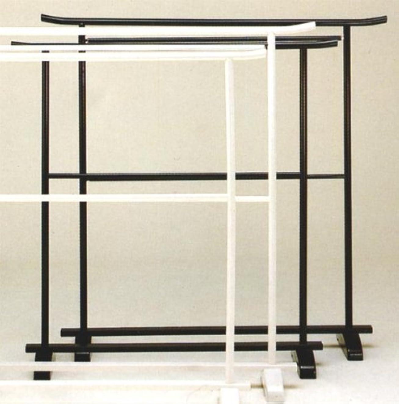 エレベータースポンサー正確国産 プラスチック 2段 衣桁 黒