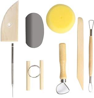 8 Pcs Herramientas de Arcilla Conjunto de Herramientas para tallar cerámica, Cuchillo de arcilla Barro Herramientas de Escultura de Arcilla para principiantes, profesionales para Cerámica de Arcilla