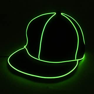LED Leuchtende Hut, Kostüm Neon Hip Hop Baseball Cap EL Cap Cold Light Festival Party Dance Für Hochzeitsdekoration Street Dancer Party