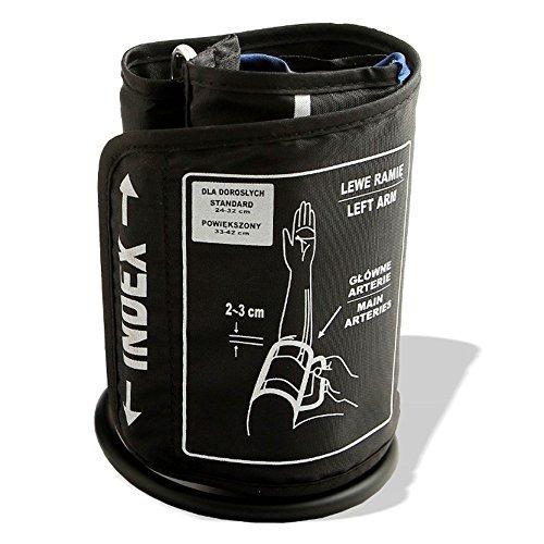 GESS Oberarm-Manschette für elektrische oder mechanische Blutdruckmessgeräte - EIN Kabel (24-32cm)