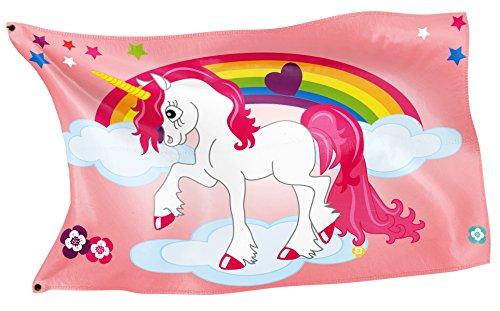 Original RAHMENLOS® Design-Flagge: Pink Einhorn-Pony
