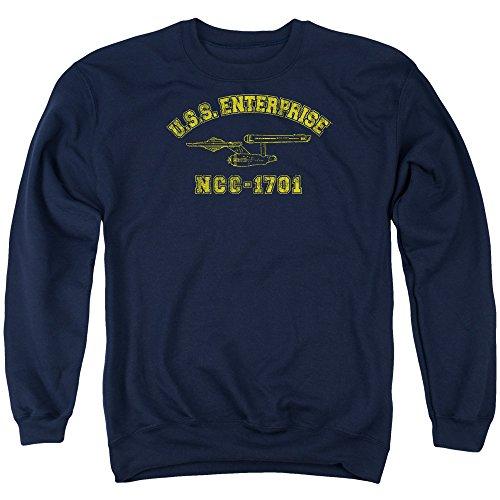 Star Trek - - Enterprise Athletic Pull pour hommes, Large, Navy