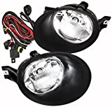 Rxmotor Driver and Passenger Fog Lights Lamps Replacement for Dodge Pickup Truck 2002-2008 55077475AE 55077474AE (Chrome2)