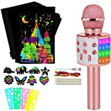 ZZLWAN Bluetooth Wireless Singing Karaoke Microphone & Gifts for 4 5 6 7 Year Old Girls Arts and Crafts