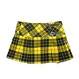 Viper London Yellow Tartan 13' Skirt Size UK 26
