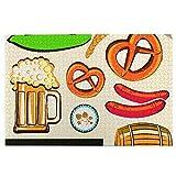KIMDFACE Puzzle Jigsaw 1000 pezzi per gli adulti,Oktoberfest simbolo birra salsiccia di frumento e salatini colorati disposizione bavarese,gioco familiare,festa aziendale,regalo per amore e amico