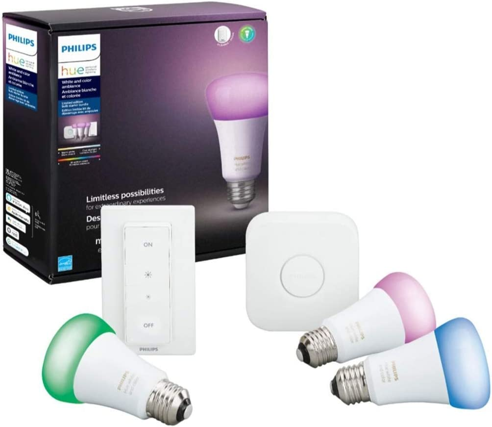 Philips Hue MAIN-54158 White Color Starter LED Kit-3 Outlet 1 year warranty ☆ Free Shipping Ambiance
