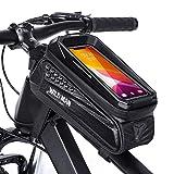 Bolsa de Bicicleta Manillar, CHICLEW Soporte Movil Bicicleta Impermeable con Pantalla Táctil de TPU y Carcasa Dura de EVA, Bolsa Bicicleta Cuadro para Teléfono Inteligente por Debajo de 6,7 Pulgadas