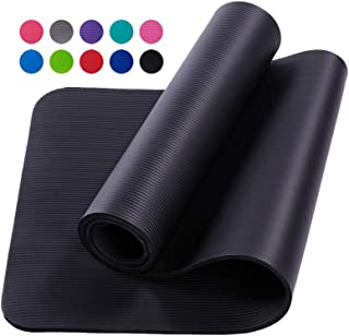 Kumono GoYoga All-Purpose,10mm Extra Thick High Density Anti-Tear Exercise Yoga Mat Workout Mat for All Types of Yoga, Pil...